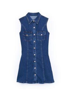 Pocket denim #dress
