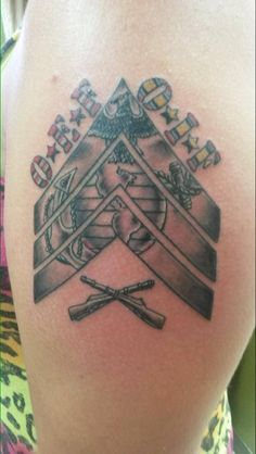 Sergeant of Marines Usmc, Marines, Marine Tattoo, Sweet Tattoos, Deathly Hallows Tattoo, Tatoos, Tatting, Ink, My Style