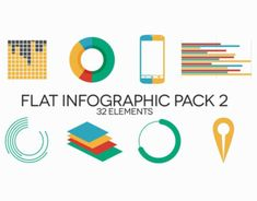 Introducing amazing Flat Infographics Pack 2 with 32 elements for any purposes.