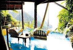 Ladera Resort in St. Lucia....imagine this as your backyard...wow