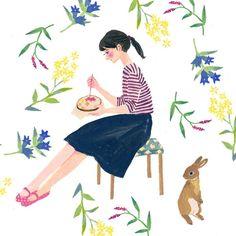 """day 150. embroidery and autumn flowers #リンドウ #イヌタデ #アキノキリンソウ * #365daysofpaint#art_we_inspire #illustagram #illustration #art #artwork #acrylicpainting…"""