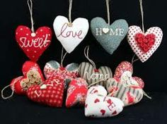 hanging fabric hearts - Google Search