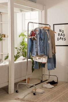 Get Organized Casper Rolling Storage Rack - Urban Outfitters Acne: Rambazole Can Be A Good Medicatio Apartment Furniture, Apartment Living, Living Room Furniture, Boston Apartment, Industrial Storage Racks, Storage Shelves, Storage Baskets, Storage Ideas, Urban Outfitters