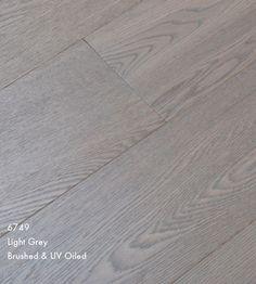 Furlong Majestic Light Grey Stained Engineered Wood Flooring Brushed & UV Oiled