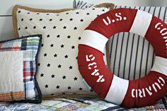 No sew Nautical Pillows