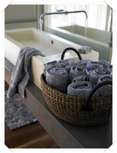 idee originali portasalviette cestino porta-asciugamani