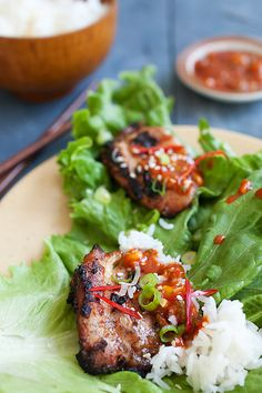 Korean bbq chicken recipe korean bbq chicken lettuce leaves and korean bbq chicken dak gogi this recipe so good you have to try forumfinder Choice Image