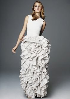 H eco-friendly #ruffle #dress