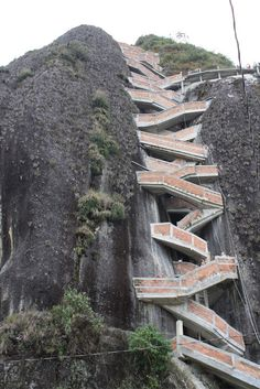 Funny Arts Ands Pictures: 659 stairs to the top, The Guatape Rock in Colombia.