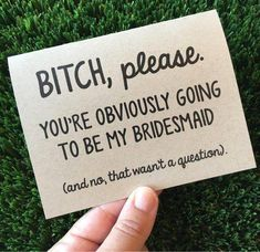 Funny Bridesmaid Proposal Card for Maid of Honor / Be my bridesmaid proposal Car. Wedding , Funny Bridesmaid Proposal Card for Maid of Honor / Be my bridesmaid proposal Car. Funny Bridesmaid Proposal Card for Maid of Honor / Be my bridesmai. Bridesmaid Proposal Cards, Wedding Proposals, Wedding Cards, Brides Maid Proposal, Wedding Venues, Ideas To Ask Bridesmaids, Marriage Proposals, Wedding Parties, Dream Wedding