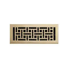 Wicker Style Brass Floor Register -