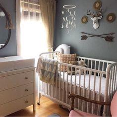 Tribal Theme Nursery: Metal arrow wall decor for baby nursery | Near and Deer