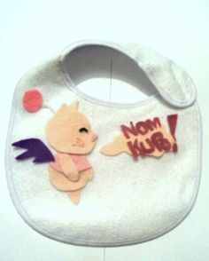 Final fantasy Moogle Baby Bib 36 Months by CrystalPhaceCrafts, £8.99