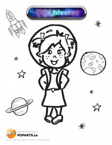 Another #coloring page to go along with #Fridays #YOUniverse episode! #crafts #kids