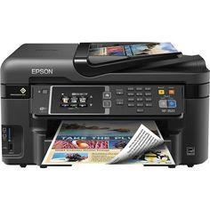 Epson - WorkForce WF-3620 Wireless All-In-One Printer - Black - Front Zoom
