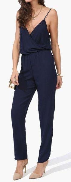 Navy Jumpsuit //