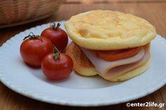 Cloud bread: Fluffy flourless bread with yogurt kefir Cloud Bread, Flourless Bread, Paleo Recipes, Cooking Recipes, Healthy School Snacks, Dukan Diet, Kefir, Yogurt, Healthy Living