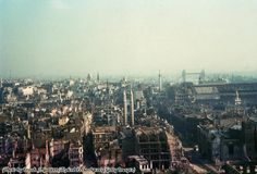 A view of London after a German bombing raid in 1940.