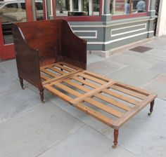 Morgan & Sanders 19th Century English Mahogany Campaign Chair-Bed 2