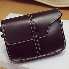Mini small handbag cross body black leather New And Size: about 18 cm(length) x 4cm(width) x14 cm(height) (It's manual measurement, there may be a little error.) Shoulder strap:about 128 cm Bags Mini Bags