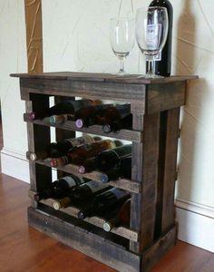Old pallets turned into beautiful wine rack More