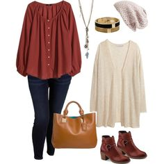 Plus size style for cool spring nights., created by hamtowntracey on Polyvore