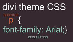 Divi theme CSS: Firebug, Chrome Dev tools and CSS Hero