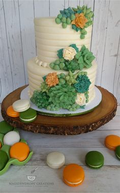 Piped Buttercream Succulents