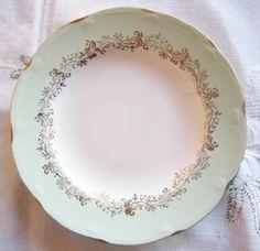 Figgjo Flint Grønn Marie Kake asjett ca 17 cm diameter Kitchenware, Tableware, Stavanger, Vintage China, Norway, Stoneware, Porcelain, Pastel, Pottery