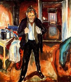 Edvard Munch, 1919...self portrait