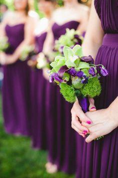 :: bridesmaid dresses :: plum :: grape :: orchid :: purple ::  grecian style dresses :: strapless dresses :: weddings ::