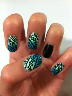 tribal nails.