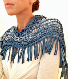 """Trash To Couture: took the """"tshirt scarf"""" to another level."""