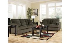 Atmore- Pewter Sofa and Loveseat