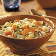 Sweet Potato Minestrone Recipe- Recipes  I don't cook as much now that our daughters are on their own. But when I do, this is the recipe I reach for.—Helen Vail, Glenside, Pennsylvania