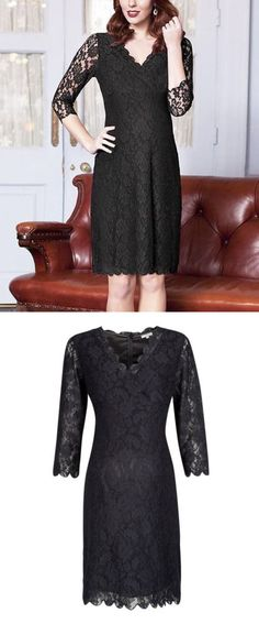 Dresses 11534: New Jojo Maman Bebe Maternity Black Lace Occasion Shift Dress Uk 10 : Us 4-6 S -> BUY IT NOW ONLY: $45 on eBay!