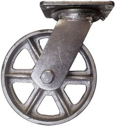 Inexpensive casters! Can spray paint with oil rubbed bronze for antique/vintage look. Stromberg 8 inch Swivel Steel Caster