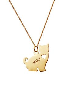 Another great find on #zulily! Gold Sitting Cat Personalized Pendant Necklace #zulilyfinds