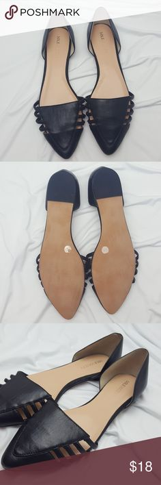Sole Society Flats Black two piece low Vamp Doorway pointed flats. Condition: Used but in great condition *a bit narrow in the front* Sole Society Shoes Flats & Loafers
