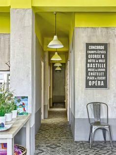 Un apartamento verde limón