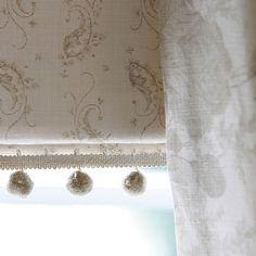 Blind fabric 'Sage Eliza' Curtain fabric 'Sage Roses' Kate Forman