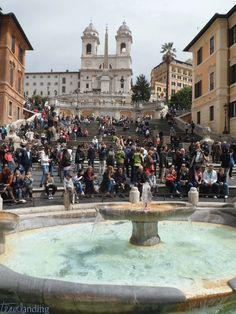 Monumentos de Roma. Plaza de España de Roma