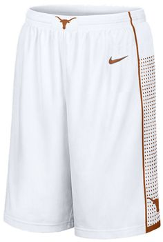 """f6f6004cef954 Nike Texas Longhorns NCAA White New 12"""" Inseam Embroidered Player Replica  Basketball Shorts University Of"""