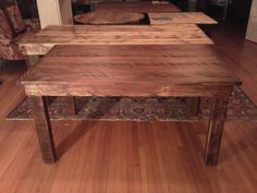 Simple farm table made from ash