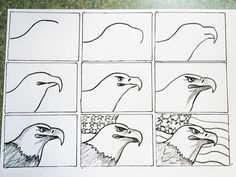 smART Class: Father's Day Coffee Painted Sepia Eagles! a good fit for a cycle 3 final project.