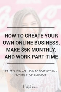 Let me show you how to create an online business and work part-time from your laptop! Click to read more!