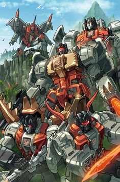 Dinobots coloured by *markerguru on deviantART - Transformers Autobot