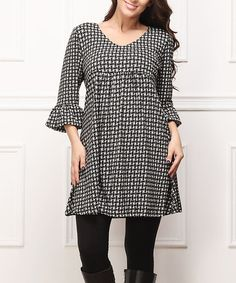 Another great find on #zulily! Charcoal Basketweave Empire-Waist Dress - Plus #zulilyfinds