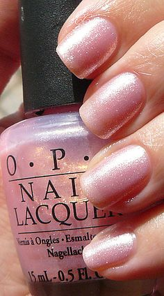 OPI nail polish in Princesses Rule! pink with shimmer and a great name. OPI you kill me. Opi Nail Polish, Opi Nails, Nail Polish Colors, Gel Nail, Cute Nails, Pretty Nails, Neutral Nails, Colorful Nail Designs, Nagel Gel