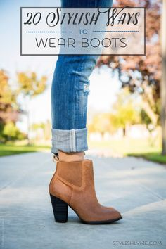20 Stylish Ways to Wear Boots http://stylishlyme.com/style/20-stylish-ways-to-wear-boots/?utm_campaign=coschedule&utm_source=pinterest&utm_medium=Stylishlyme&utm_content=20%20Stylish%20Ways%20to%20Wear%20Boots